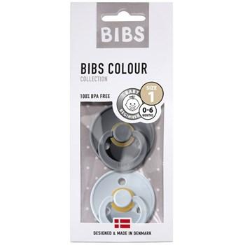 BIBS - Zestaw smoczków S IRON & BABY BLUE