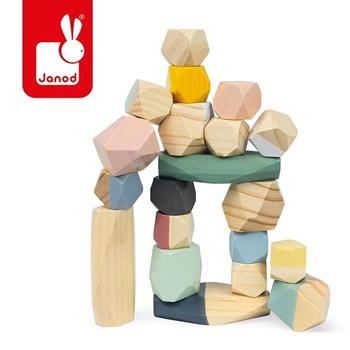 Janod: Drewniane kamyki Sweet Cocoon 20 elementów