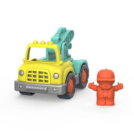B.Toys: Mała CIĘŻARÓWKA-DŹWIG z kierowcą