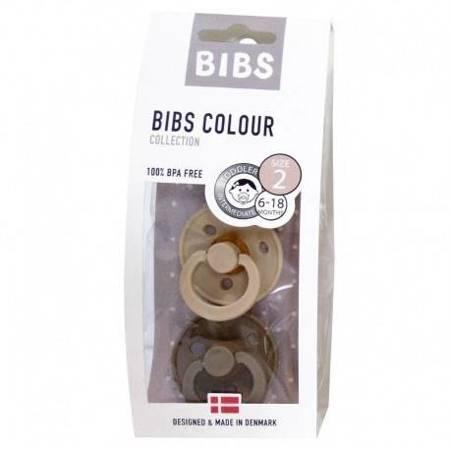BIBS - Zestaw smoczków M Vanilla & Dark Oak