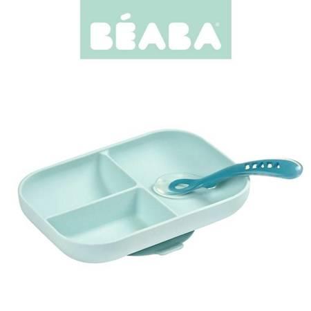 Beaba - Komplet naczyń z silikonu niebieski
