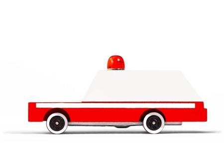 Candylab: Samochód Drewniany Ambulans