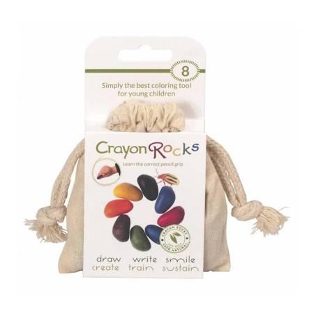 Crayon Rocks - Kredki w bawełnianym woreczku 8szt