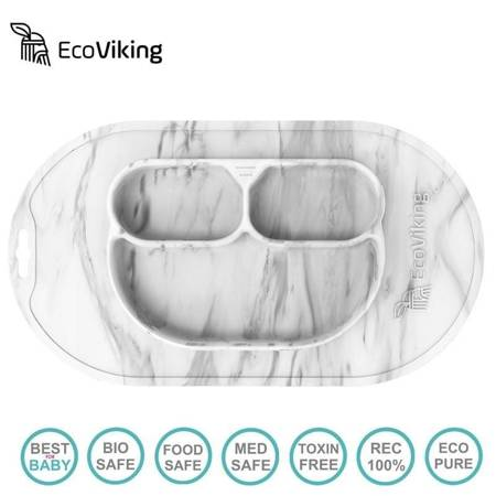 Eco Viking - Talerzyk/mata 4 in 1 Owl Murble