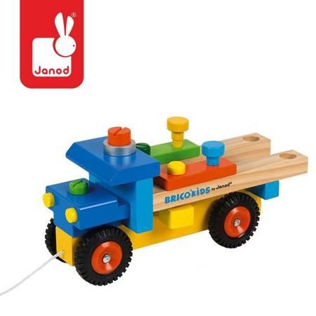 Janod - Ciężarówka do składania drewniana
