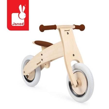 Janod: Drewniany rowerek biegowy z naklejkami