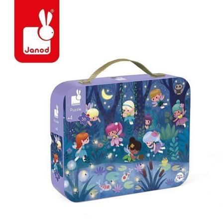 Janod - Puzzle w walizce Wróżki i lilie wodne 36