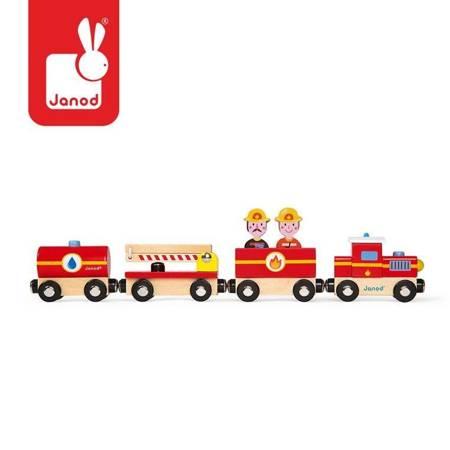 Janod - Straż pożarna pociąg drewniany magnetyczny