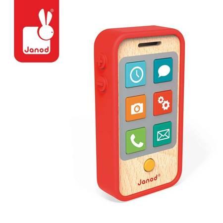 Janod - Telefon drewniany z dźwiękiem