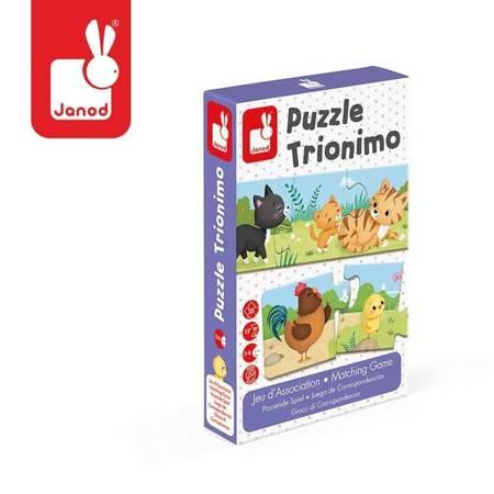 Janod - Trzyczęściowe puzzle Zwierzęta
